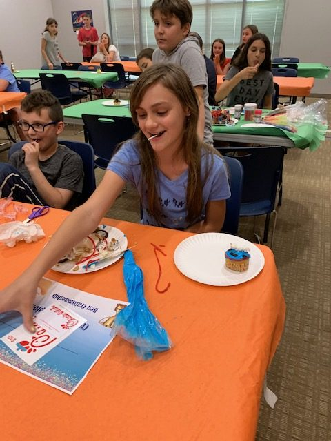 Dawson County Library hosted a book themed decorate a cupcake event in July. The DCWC provided dozens of cupcakes.
